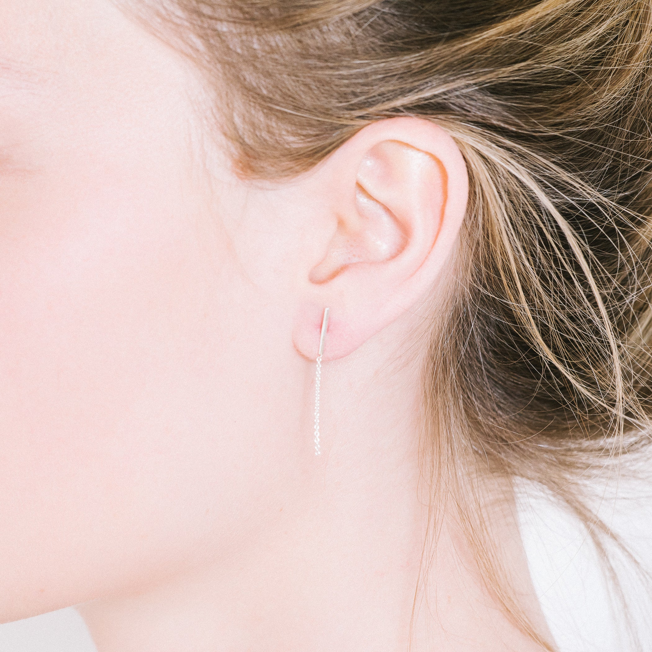 Aurore Havenne Lines earrings bijou fin simple minimalist jewellery belgian designer