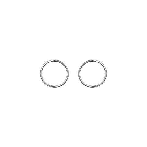 Silver Wire Earrings 1mm