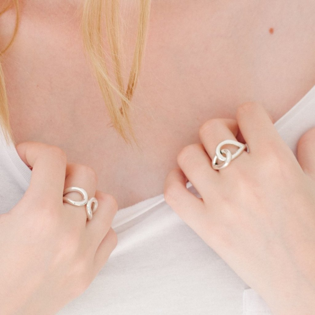 Aurore Havenne Attractinf Raindrops Ring Silver designer bijou simple minimalist elegant gift