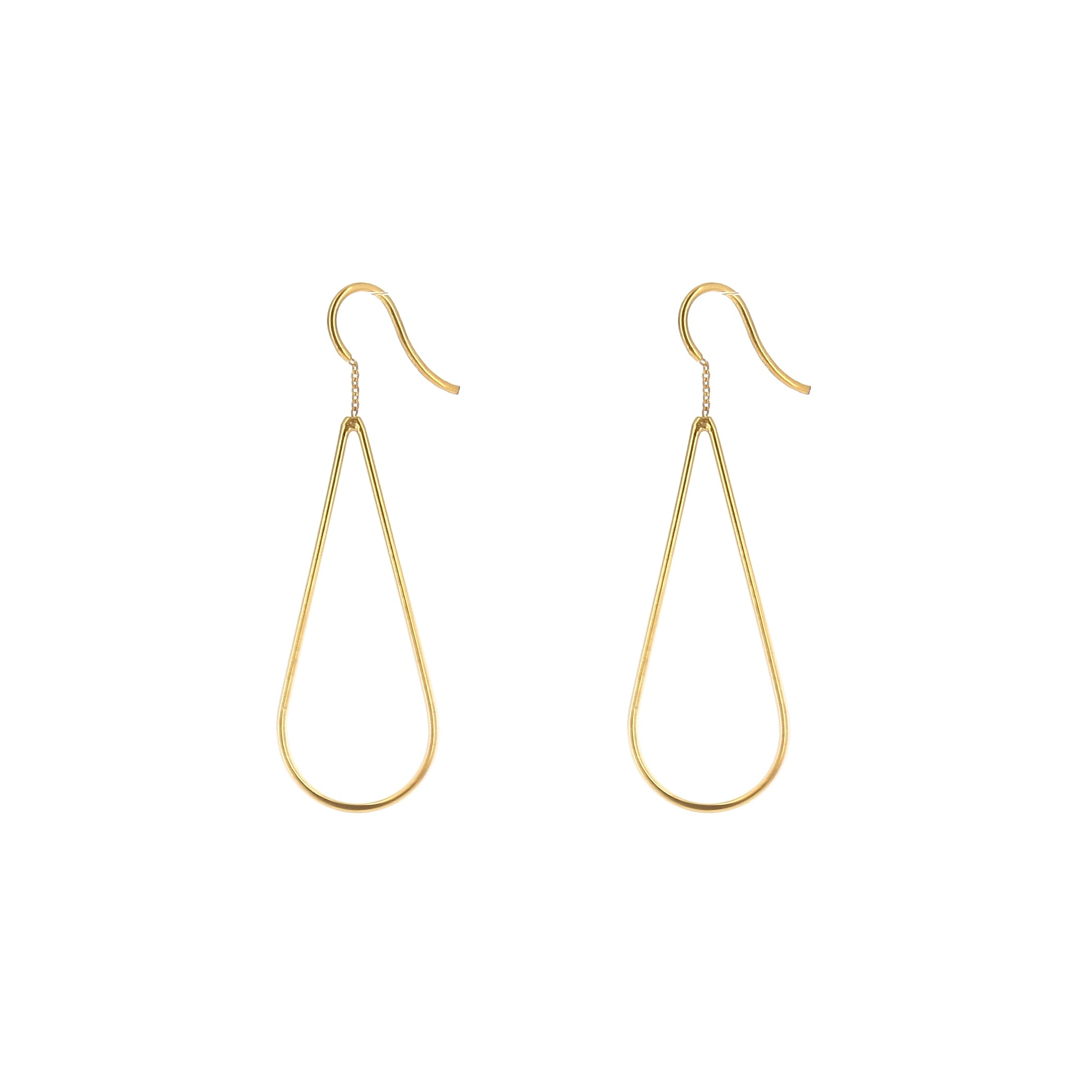 Aurore Havenne Gold Plated Silver Raindrops Earrings minimalist bijou simple elegant present bestseller