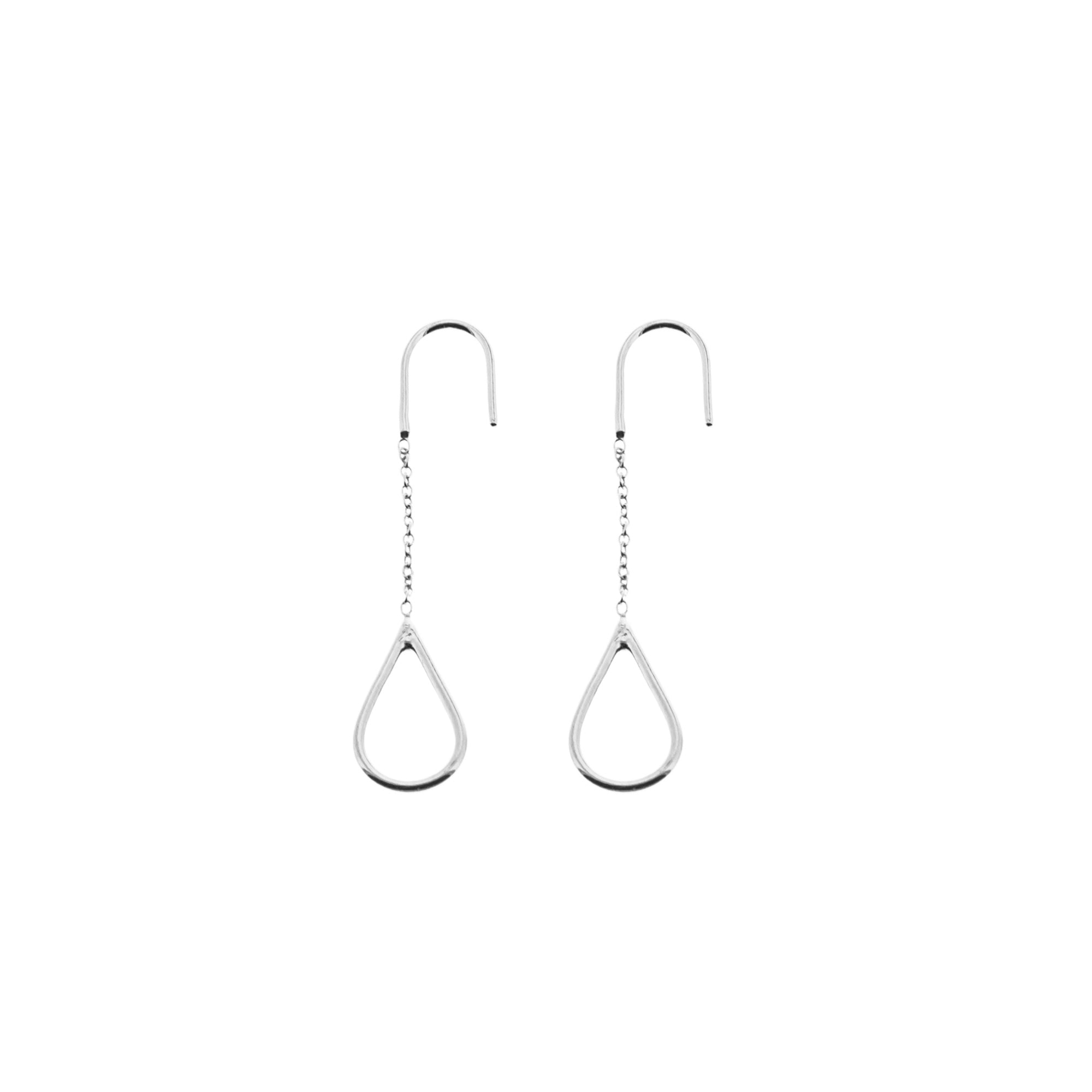 Aurore Havenne Silver Long Raindrops Earrings minimalist jewels bijou simple designer