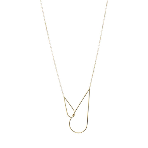 Raindrops necklace gold plated silver Aurore Havenne bijou simple jewelry