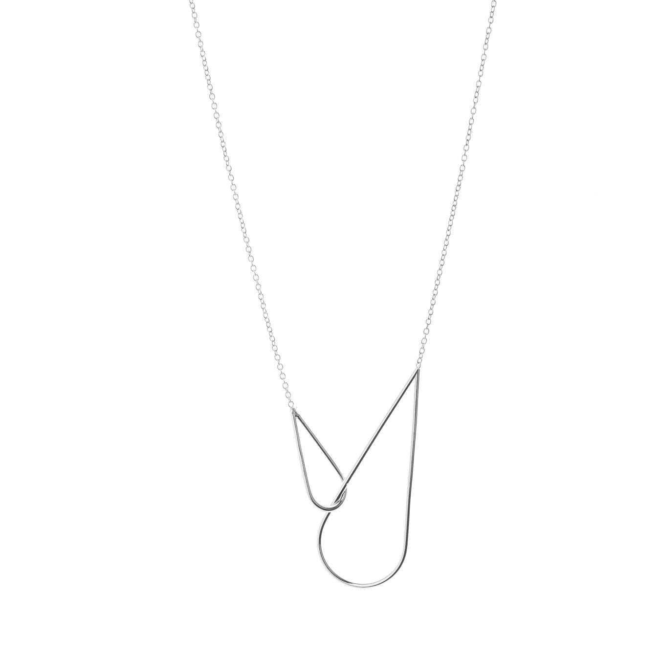 Aurore Havenne Raindrops Necklace Silver bijou minimalist jewel