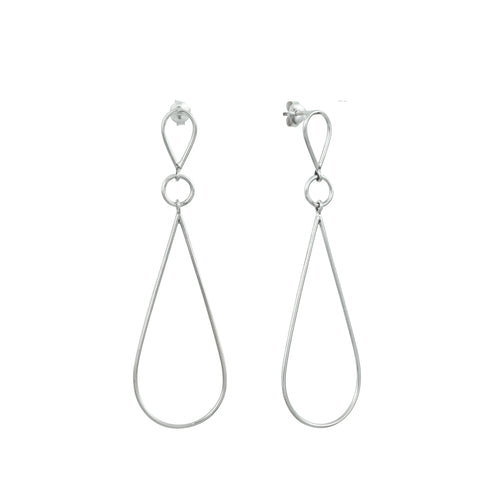 Aurore Havenne Raindrops big earrings silver bijou minimalist jewel