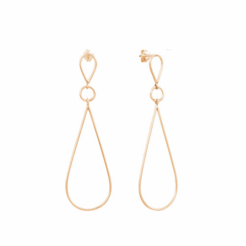 Aurore Havenne Gold plated silver Raindrops minimalist jewelry bijou simple fin