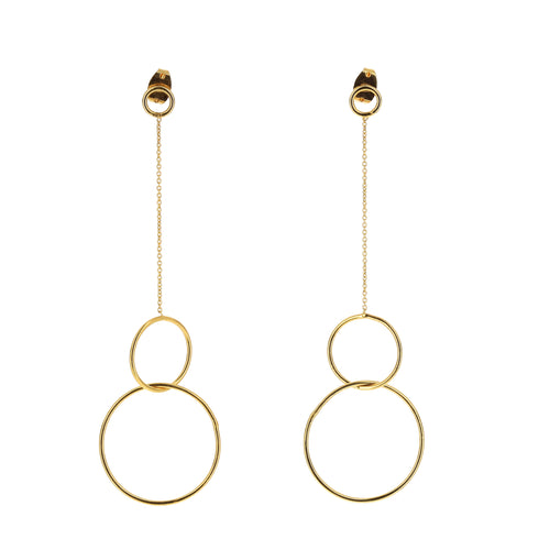 Aurore Havenne Gold Plated Silver Trinity earrings minimalist jewellery bijoux simple design belge