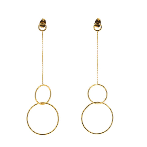 Gold Plated Silver Raindrops Earrings