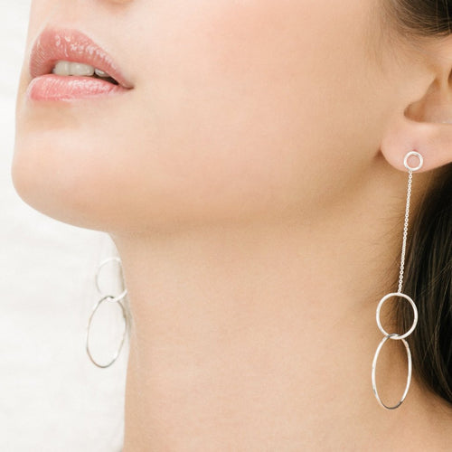 Aurore Havenne Silver Trinity earrings minimalist jewellery bijoux simple design belgian