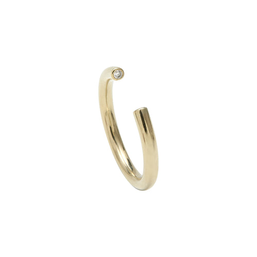 Aurore Havenne Tubular Gold And Diamond ring minimalist jewellery bijou simple fin