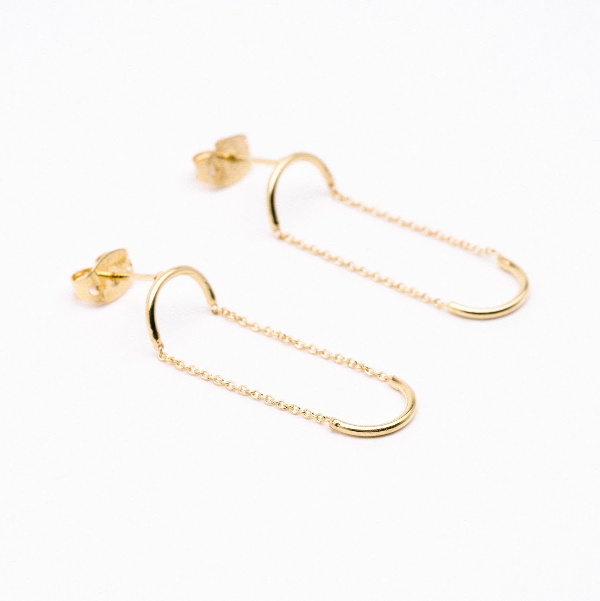 Double Unity Circle Earrings Aurore Havenne Gold plated silver bijou simple jewellery