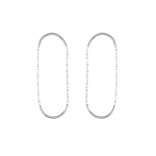 Aurore Havenne Silver Double Unity Circle Earrings minimalist jewellery beautiful must have designer bijou simple