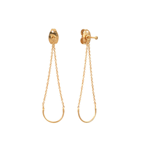 Unity circle Earrings gold plated silver Aurore Havenne bijou simple jewellery