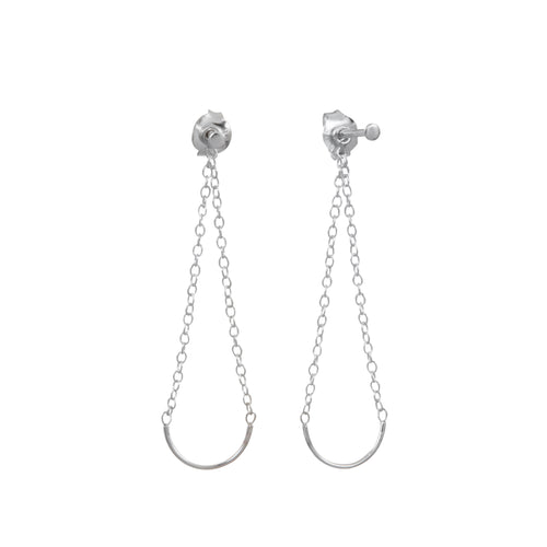 Aurore Havenne Silver Unity Circle Earrings minimalist jewellery designer bijou simple elegant