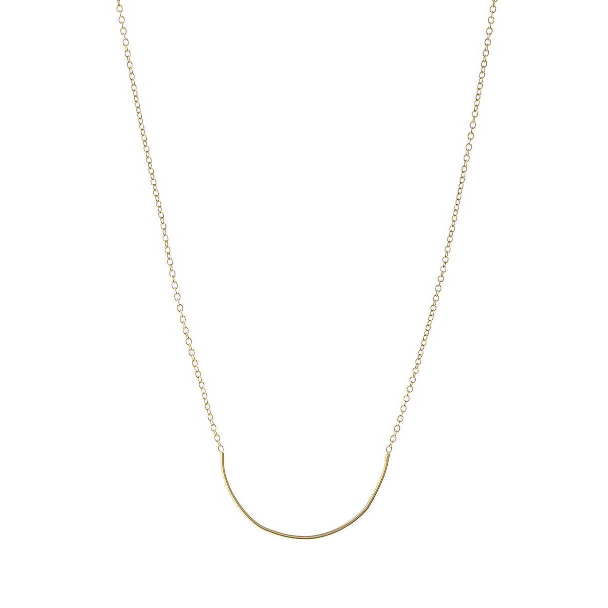 Aurore Havenne Gold Plated Silver Unity Circle Necklace minimalist jewellery bijou simple designer