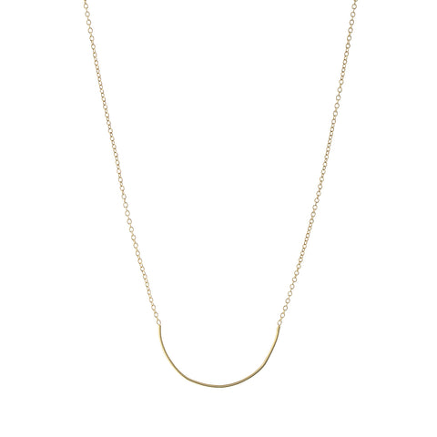 Gold Plated Silver Raindrops Necklace
