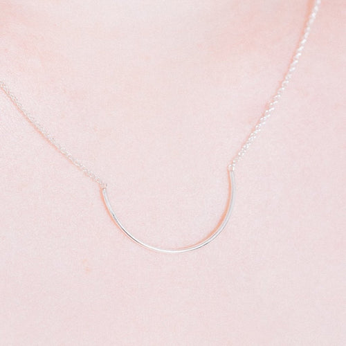 Aurore Havenne Silver Unity Circle Necklace minimalist jewellery bijou simple design
