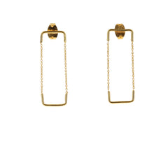 Aurore Havenne Golds Plated Silver Double Unity Square Earrings bijou jewellery minimalist beautiful must have