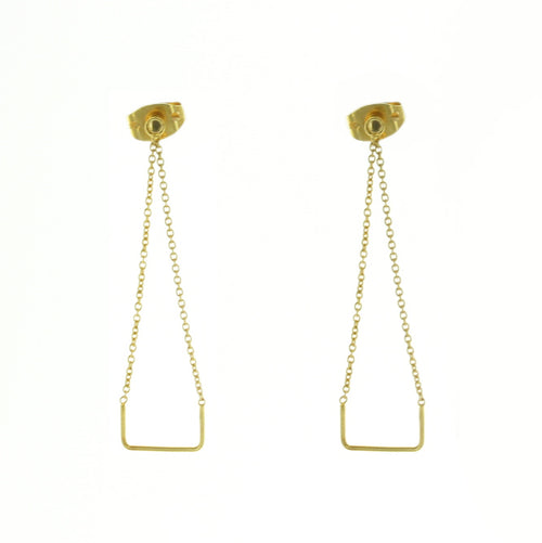 Aurore Havenne Gold Plated Silver Unity Square Earrings jewellery minimalist bijou simple designer elegant gift