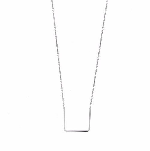 Aurore Havenne Silver Unity Square Necklace design minimalist bijou simple elegant present