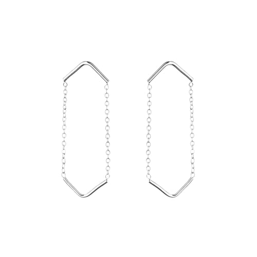 Aurore Havenne Silver Double Unity Triangle Earrings design minimalist bijou simple must have gift