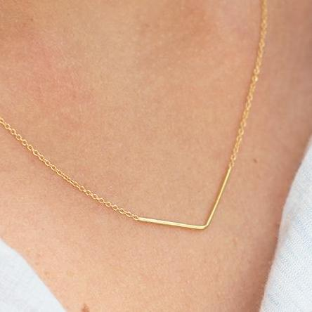 Aurore Havenne Gold Plated Silver Unity Triangle Necklace minimalist jewellery bijou design simple