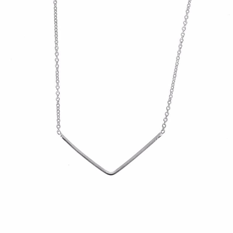 Silver Unity Triangle Necklace