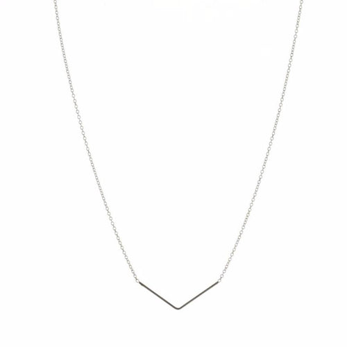 Aurore Havenne Silver Unity Triangle Necklace minimalist jewellery bijou design simple