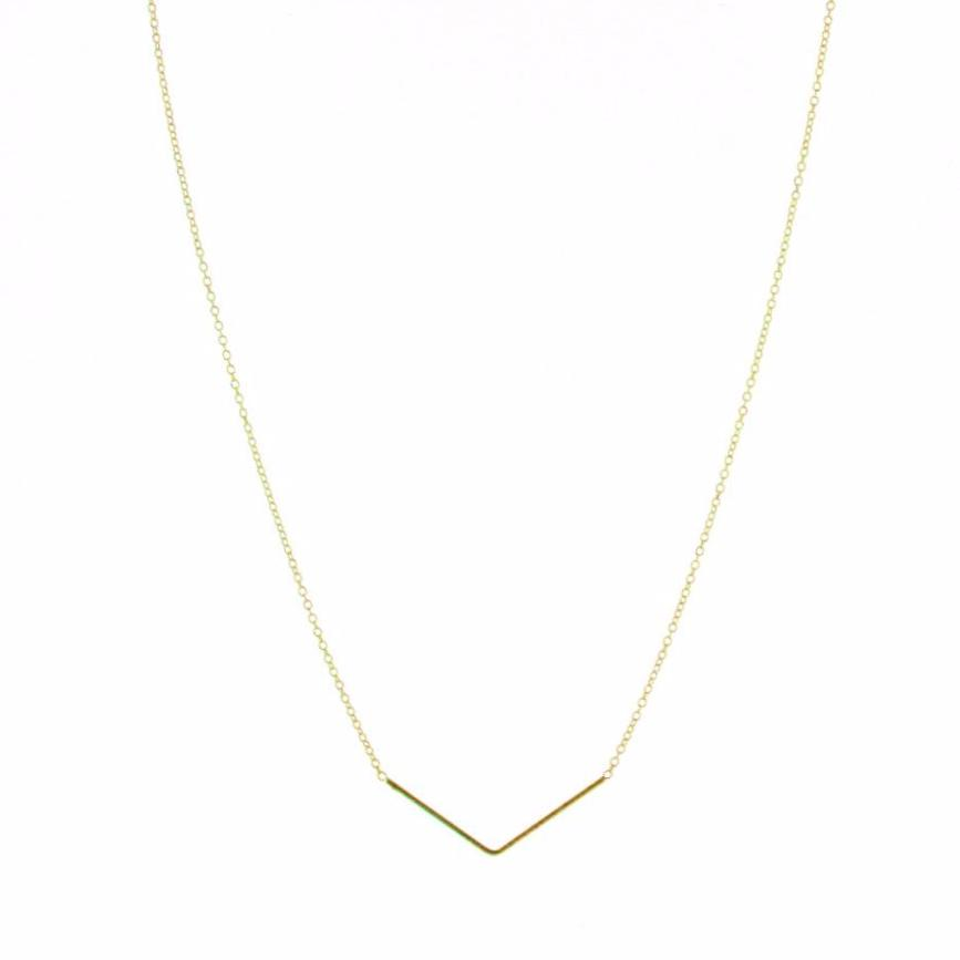 Gold Plated Silver Unity Triangle Necklace