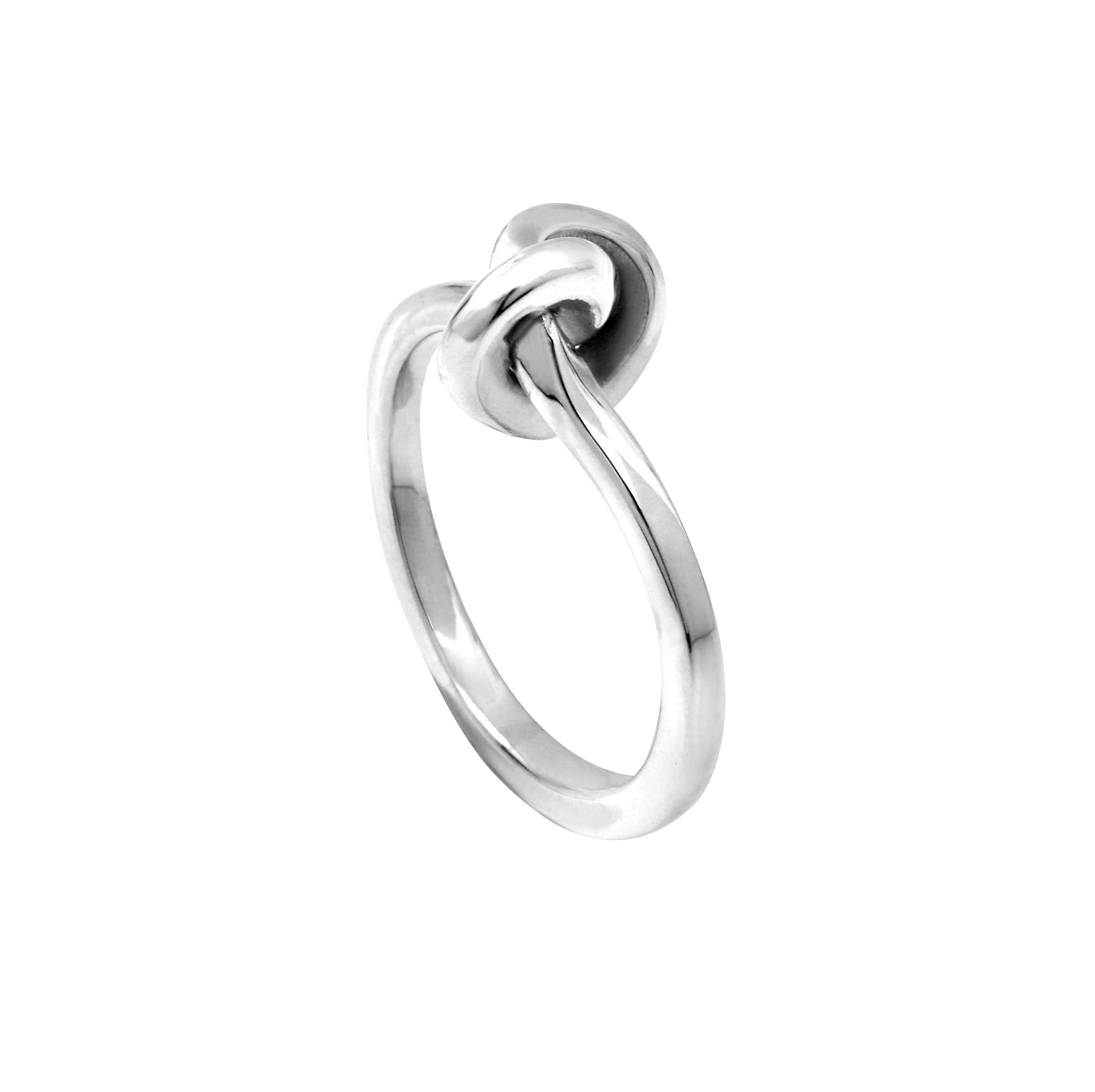 Silver Knot Ring – AuroreHavenne