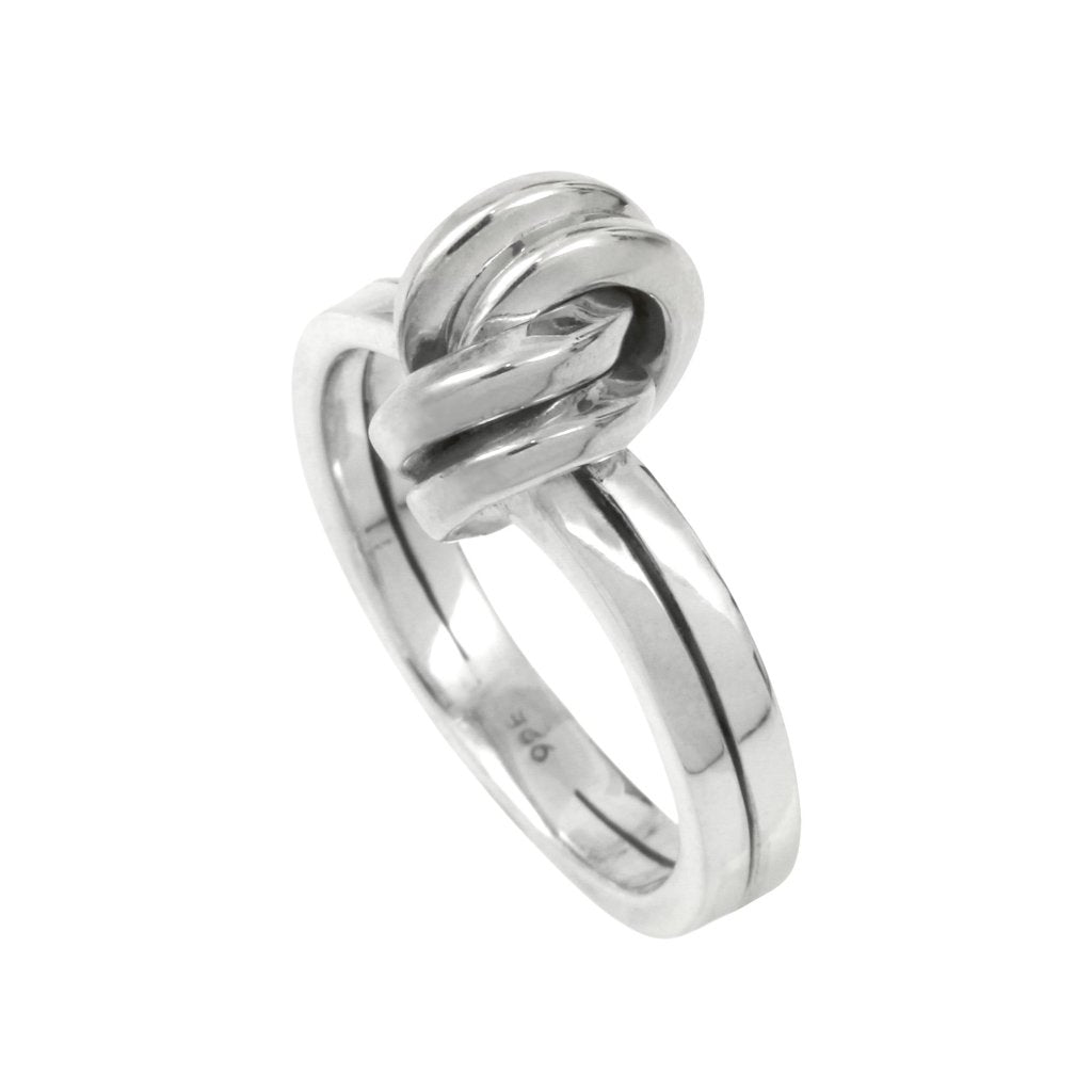 Silver Double Knot Ring
