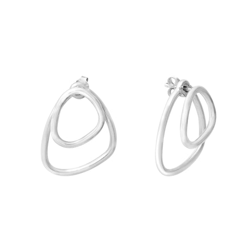 Aurore Havenne Silver Voluptueuses earrings minimalist jewellery bijoux simple design belgian