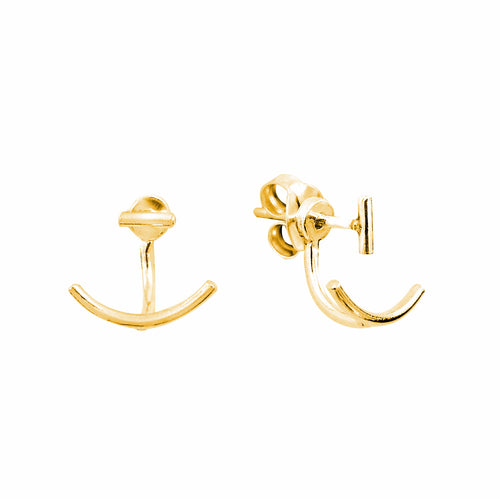 Aurore Havenne Gold plated Silver earrings Lines minimalist jewellery bijou simple fin