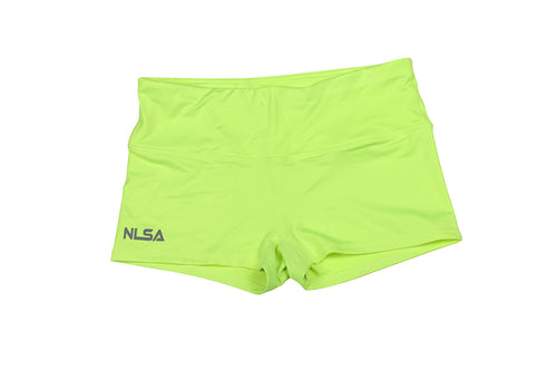 WOMEN'S NEON YELLOW BOOTY SHORT