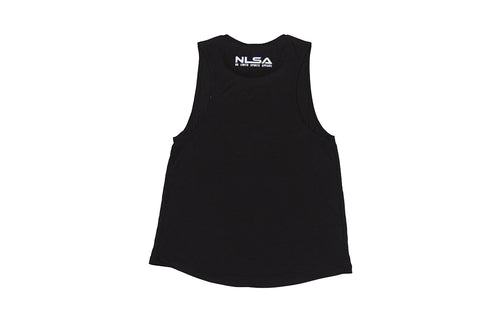 WOMEN'S CHANEL  BLACK WITH WHITE MUSCLE TANK