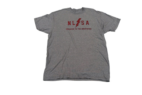 MEN'S GRAY WITH BURGUNDY VOLT T-SHIRT