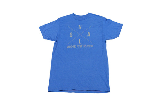 MEN'S ROYAL BLUE AND GRAY X T-SHIRT