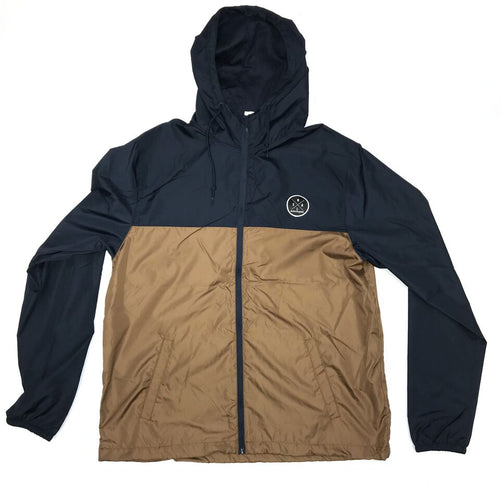 MEN'S NAVY AND TAN WINDBREAKER