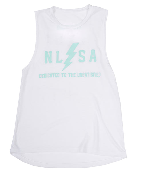 WOMEN'S VOLT TANK WHITE AND MINT