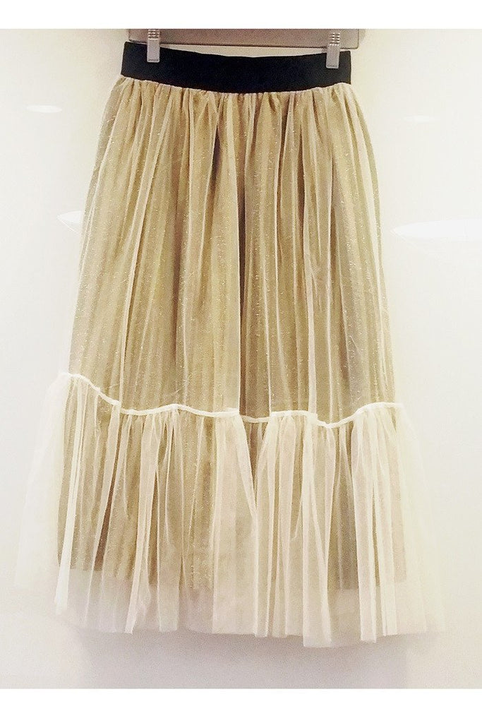Cream Chiffon Skirt