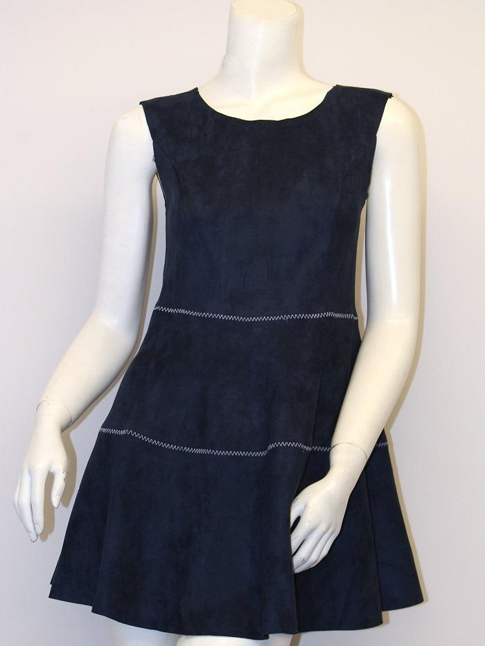 Navy Suded Dress
