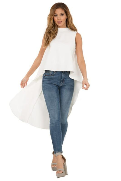 Back Ruffle Sleeveless Top