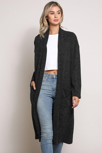 Big Pocket Long Cardigan