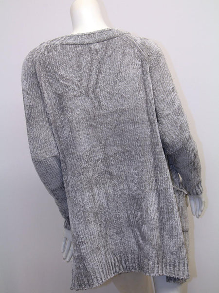 Chenille Solid Sweater Gardigan