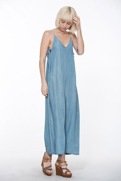 Chambray Side Tie Jumpsuit