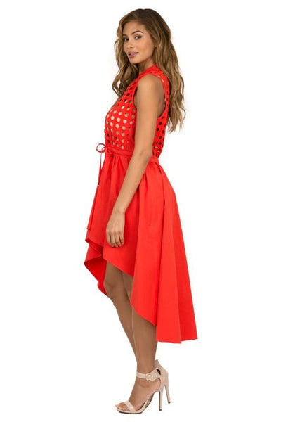 Eyelet Embroydery Sleeveless Dress