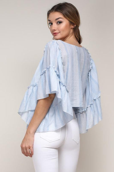 Frilled Sleeve Top