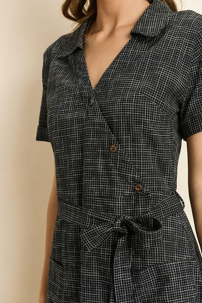 Graph Check Shirt Dress