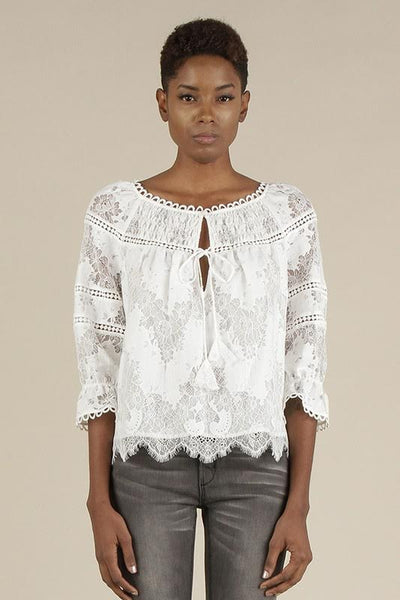 Lace Top With Lace Insets