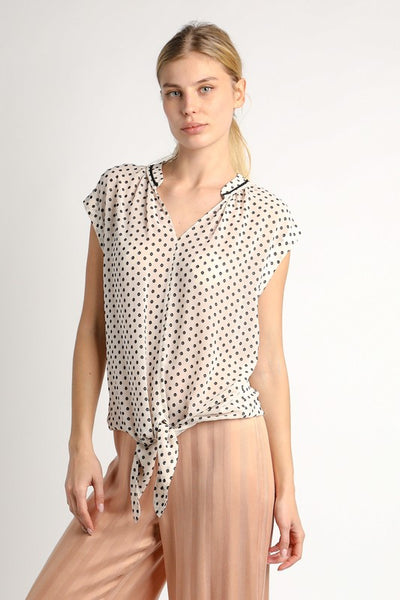 Polka Dot Tank With Tie