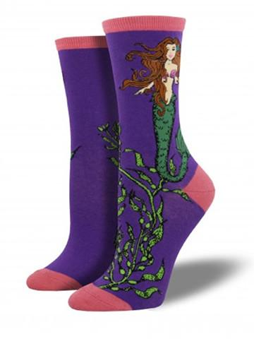 Purple Women's Mermaid Socks